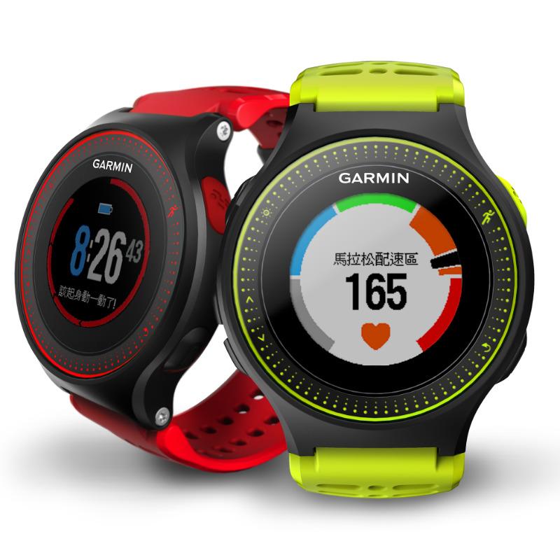 garmin-forerunner-225-red-and-green-watch-band