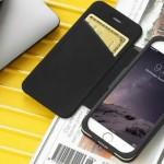 Just Mobile Quattro Folio 經典真皮保護套,iPhone 6s 專屬皮革黑西裝