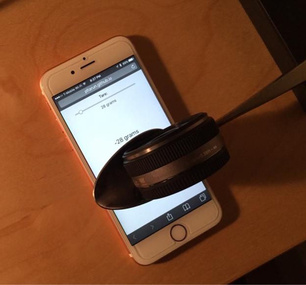 只要打開網頁,就能把 iPhone 6s 變成電子秤