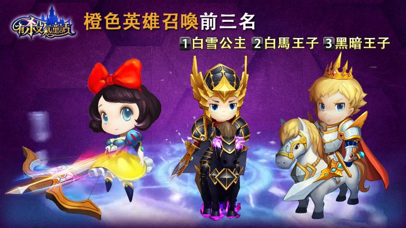 you-sha-qi-tong-hua-statistics-20160108-orange-heroes-by-summon
