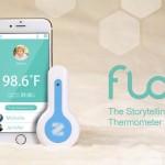 不用接觸肌膚也能量體溫!智慧溫度計 FLO 記錄寶寶的成長故事