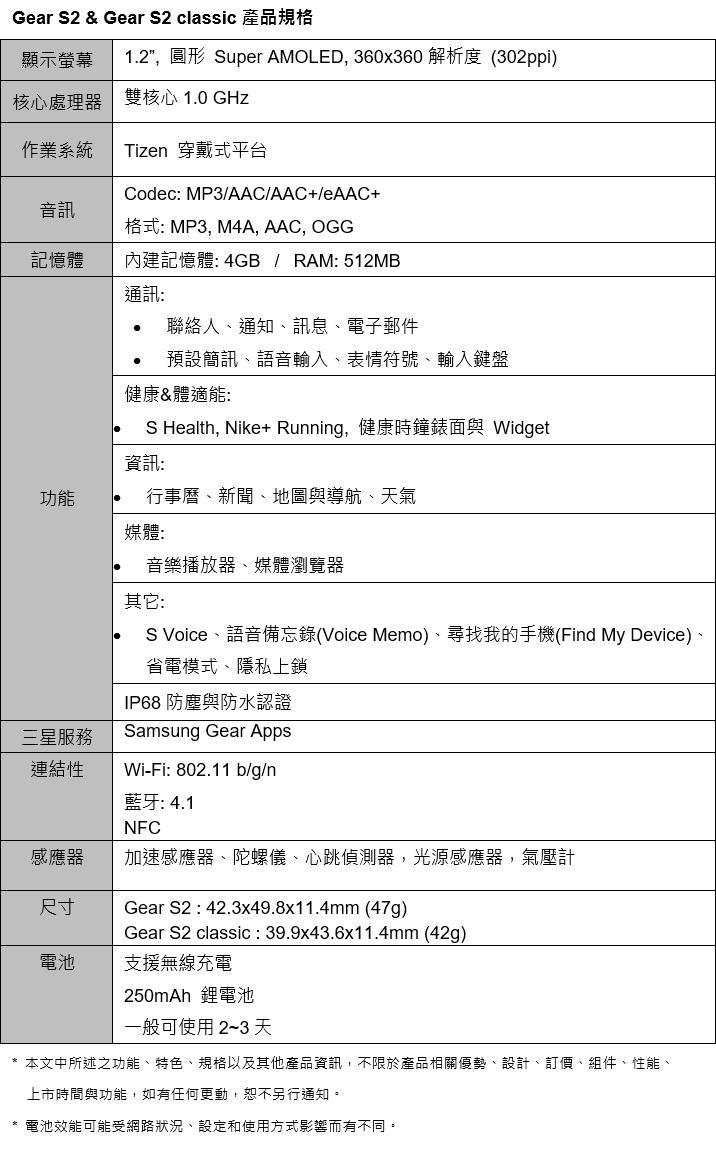 samsung-gear-s2-18k-rose-gold-platinum-specs