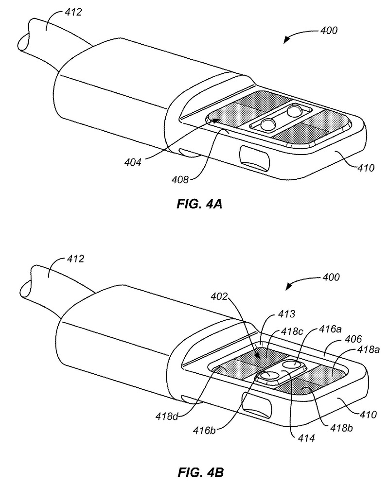 stackable-magnetically-retained-connector-interface-apple-patent-fig-4a-4b-part1