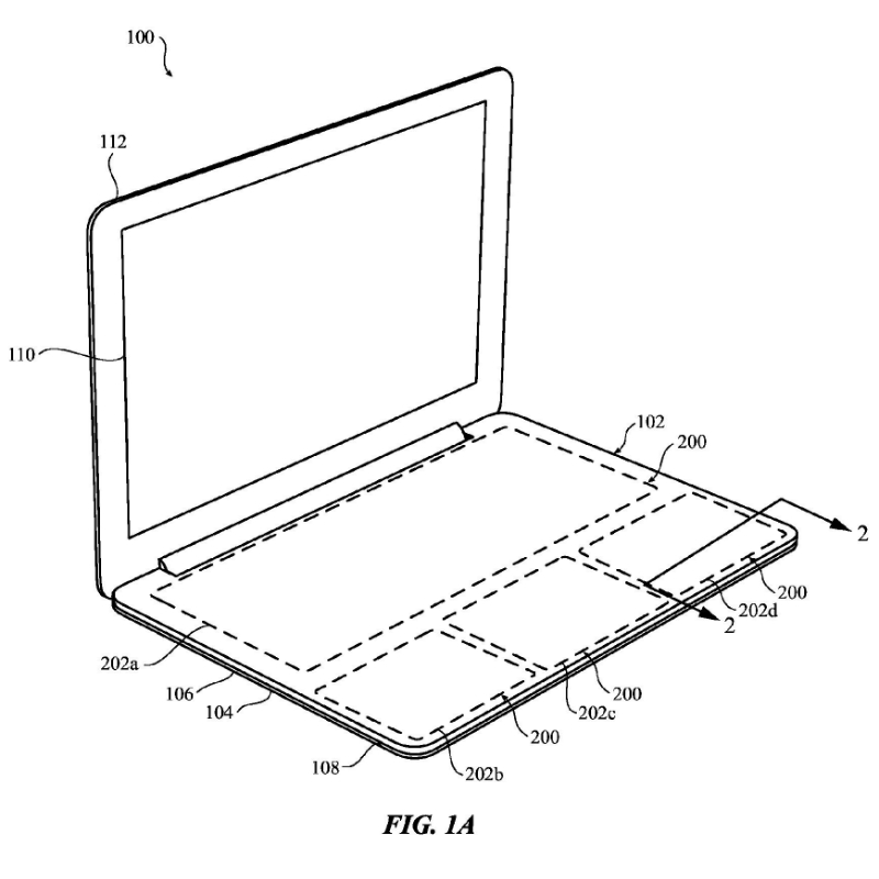 configurable-force-sensitive-input-structure-for-electronic-devices-20160098107-apple-patent-fig-1a-part