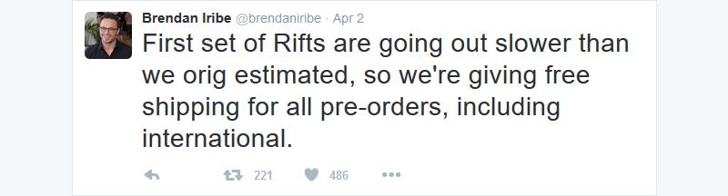 oculus-rift-free-ship-pre-orders-20160402-brendan-iribe-twitter-part